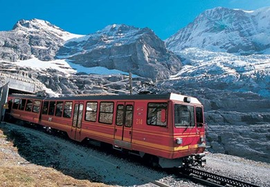 Jungfrau Railway Above The Eiger Station