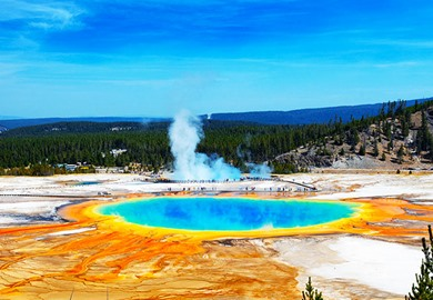 Grand Prismatic Springs Yellowstone National Park
