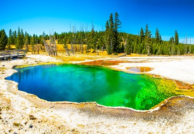 Yellowstone National Park Prismatic Spring