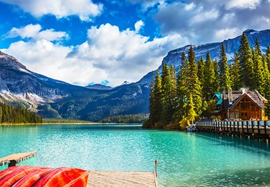 Emerald Lake In Yoho National Park