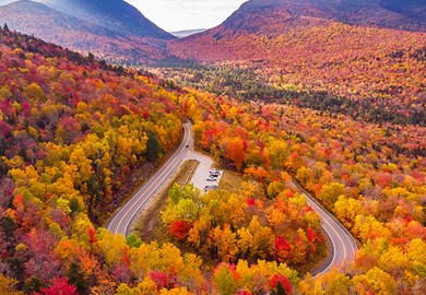 Kancamagus Highway During Foliage Season